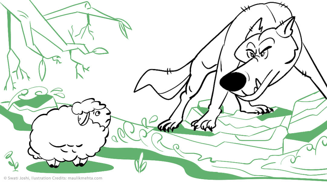 The Wolf and the Lamb- Classic Children Story [A Panchatantra Tale]