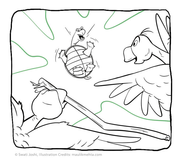 panchantantra short story for kids turtle and geese - swati's Journal short story