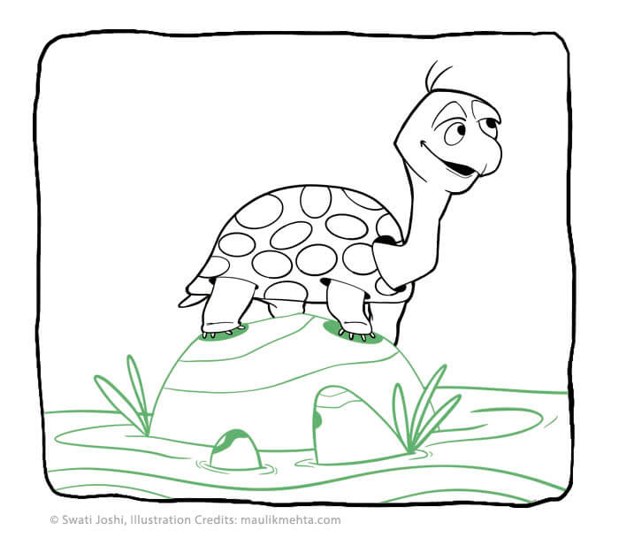 turtle who cant stop talking children story - swati's Journal short story